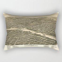 Bird's eye view of the city of Rockford, Illinois (1880) Rectangular Pillow