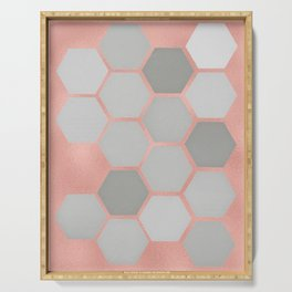 Honeycomb on Rose Gold Serving Tray