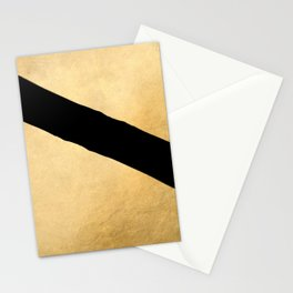 Black and gold abstract geometry (2) Stationery Cards