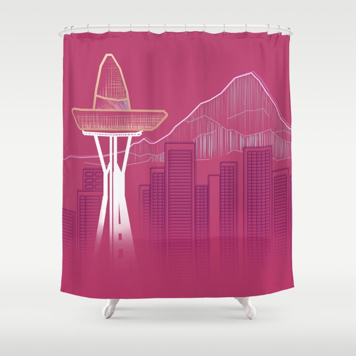 Seattle Sombre Shower Curtain
