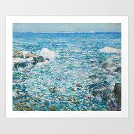 Surf, Isles of Shoals by Childe Hassam Art Print