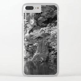 Waterfall in Japanese Zen Garden Clear iPhone Case