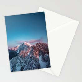 Magical sky above mountain Storžič, Slovenia Stationery Cards