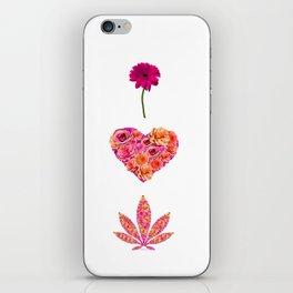 i Heart Pot Leaf iPhone Skin