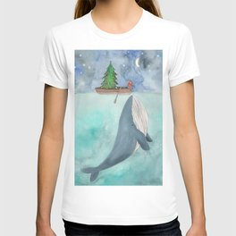When a whale likes Christmas T-shirt