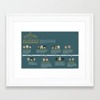 wes anderson Framed Art Prints featuring Wes Anderson Filmography by Hope Gamin Designs