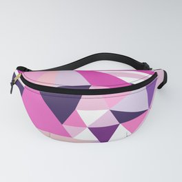 Hot pink purple abstract triangles stripes pattern Fanny Pack