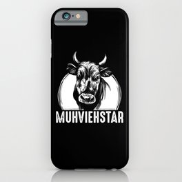 Farmer Kuhl Kuh Agricultural Machinery Mechanic iPhone Case