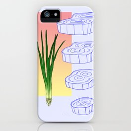 scallion cross section graphic iPhone Case
