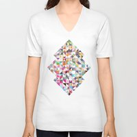 confetti V-neck T-shirts featuring Confetti by FRAXTURED