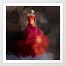 Fire dress Art Print