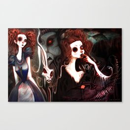 We're All Mad Here Canvas Print