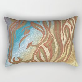 Copper & Old Gold Abstract Mare Rectangular Pillow
