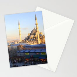 Bazaar and a mosque in Istanbul  Stationery Cards