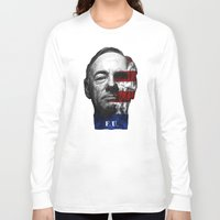 house of cards Long Sleeve T-shirts featuring House of Cards by offbeatzombie