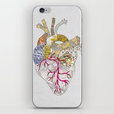 my heart is real iPhone Skin