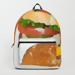 hamburger painted picture Backpack