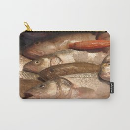 Variety of Fresh Fish Seafood on Ice 2 Carry-All Pouch