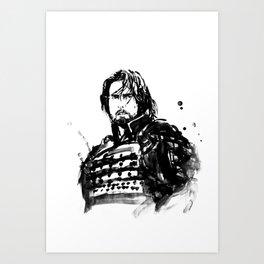 the last samurai Art Print