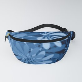 In The Tropics SKY BLUE - navy blue - and mid blue in a graphic display of color Fanny Pack