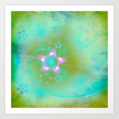 Magical Flowers Glow From Within Art Print