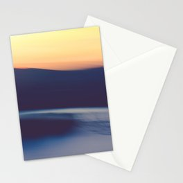 Mountain Sunrise Over Lake - Long Exposure Abstract Stationery Cards
