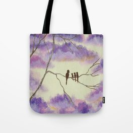 A Mothers Blessings, Birds in Tree Tote Bag