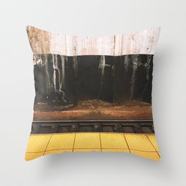 broad street line filth Throw Pillow