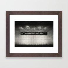 Berlin, Rosa-Luxemburg-Platz Framed Art Print
