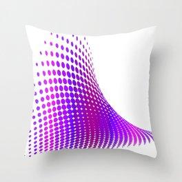 Glitch in the Dot Matrix (Purple) Throw Pillow