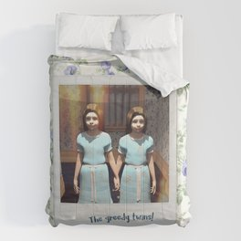 The greedy twins! Comforters