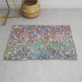 Amazing Rainbow Glitter Design Pattern Rug
