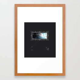 day & night Framed Art Print