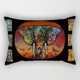 Elephant 1 Rectangular Pillow
