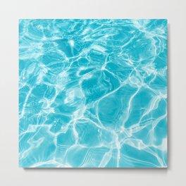 Ripple  Blue Water Metal Print