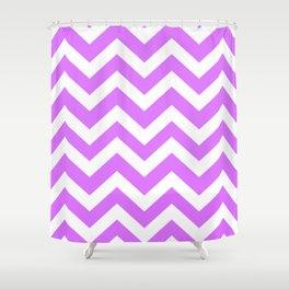Heliotrope - violet color -  Zigzag Chevron Pattern Shower Curtain