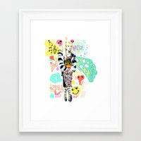 2ne1 Framed Art Prints featuring 2NE1 Happy: CL by Haneul Home