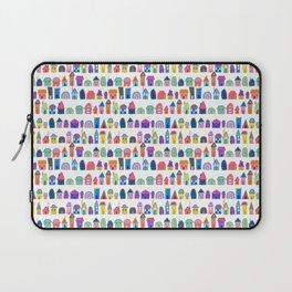 Colorful Neighbors Illustration (White) Laptop Sleeve