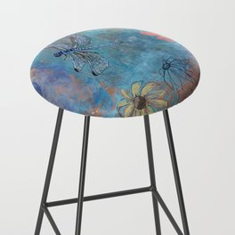 Dragonfly and Daymoon  Bar Stool
