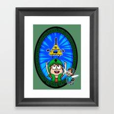 Gravity Falls: Hyrule Falls Framed Art Print