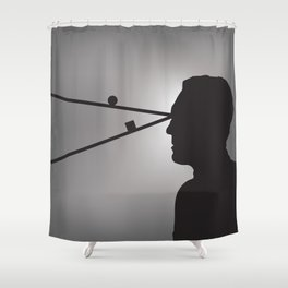 The Prisoner is Being Tested Shower Curtain