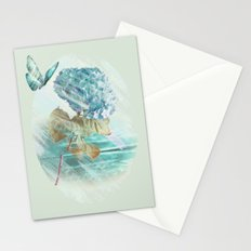 Hydrangea and butterfly Stationery Cards