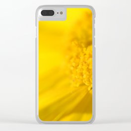 yellow yellow Clear iPhone Case