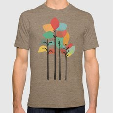 Tropical Groove Mens Fitted Tee MEDIUM Tri-Coffee