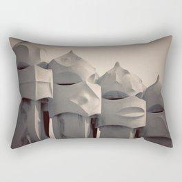 Gaudi's Chimneys Rectangular Pillow