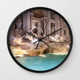 Trevi Fountain at night - Rome, Italy Wall Clock