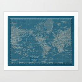 The World According to US Art Print