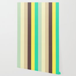 Wonderland Pastel Stripes Pattern Wallpaper