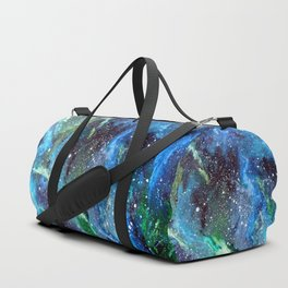 Galaxy (blue/green) Duffle Bag