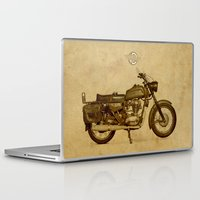 ducati Laptop & iPad Skins featuring Ducati motorcycle Meccanica by Larsson Stevensem